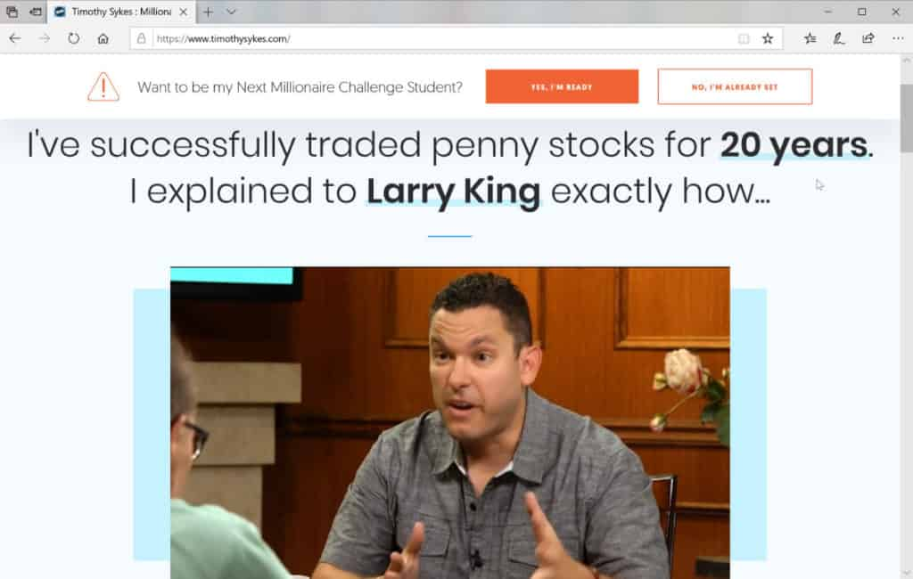 Timothy Sykes Penny Stock Trader