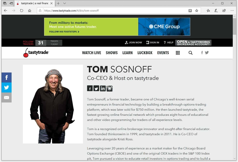 Tom Sosnoff tastytrade