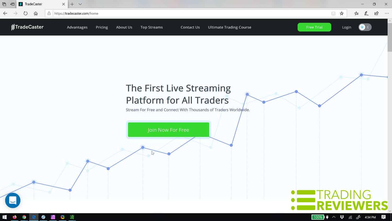 TradeCaster Live Stream Trading Platform