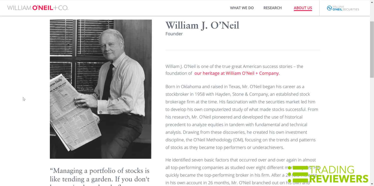 William O'Neil of IBD